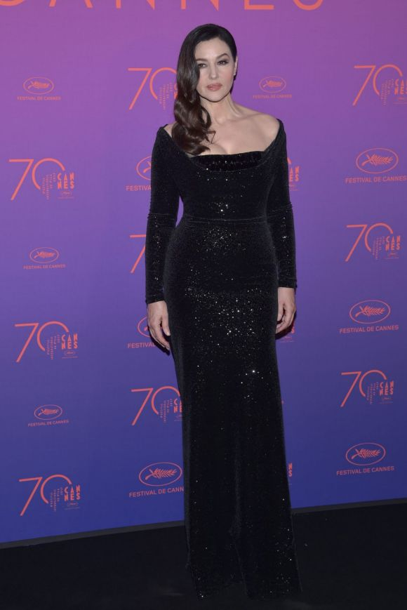 Monica Bellucci attends the Opening Gala dinner during the 70th annual Cannes Film Festival at Palais des Festivals.