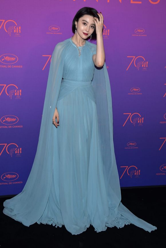 Fan Bingbing attends the Opening Gala dinner during the 70th annual Cannes Film Festival at Palais des Festivals.