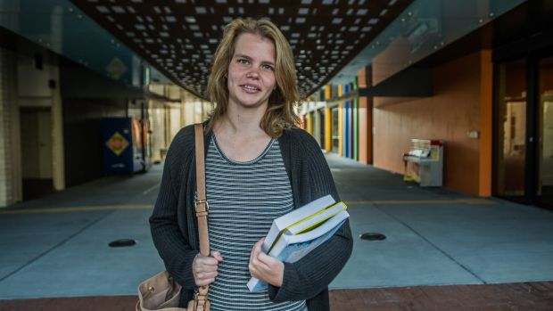 Kayla Sterchow, who has high-functioning autism and epilepsy, is studying at the University of Canberra.