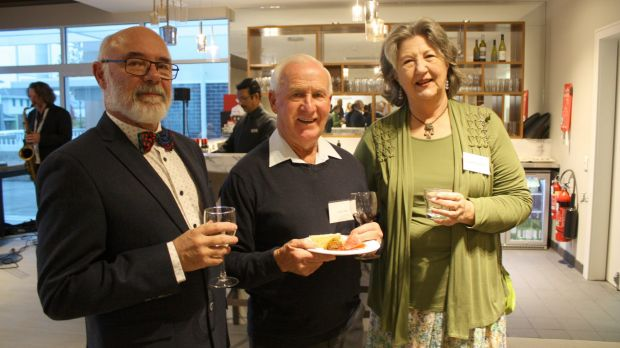Residents of The Central at Crace who attended the official opening included Michael McFarlane, Bob Lewis and Elizabeth ...