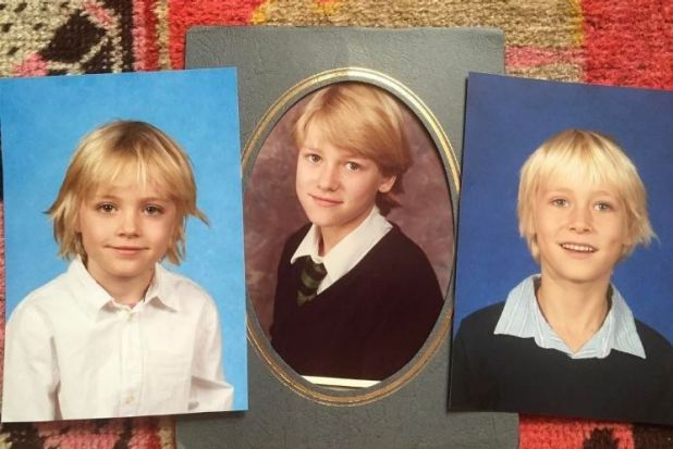 Naomi Watts shared this cute picture on Mother's Day. That's her school photo in the middle, with her sons Samuel and ...