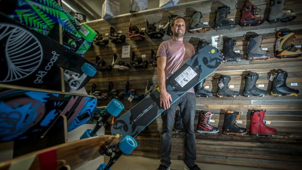 Andy Nicholls, owner of Straight Line Ski & Scuba in Fyshwick, is ready for the ski season.