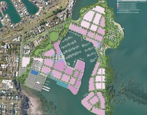 The plan for Cleveland's Toondah Harbour.