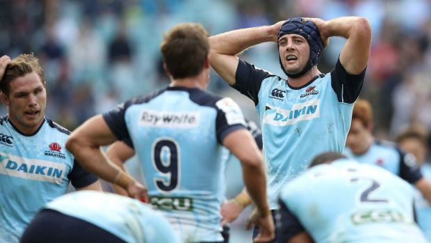 Tough times: It has been a difficult season for Dean Mumm and the Waratahs.