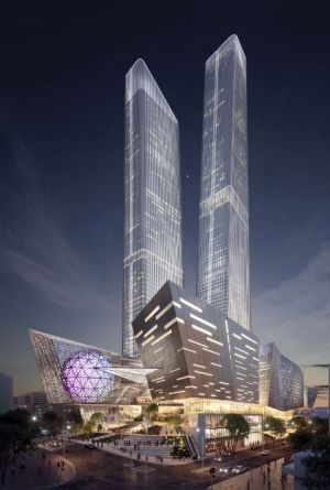 Artists impression of the World Trade Centre.