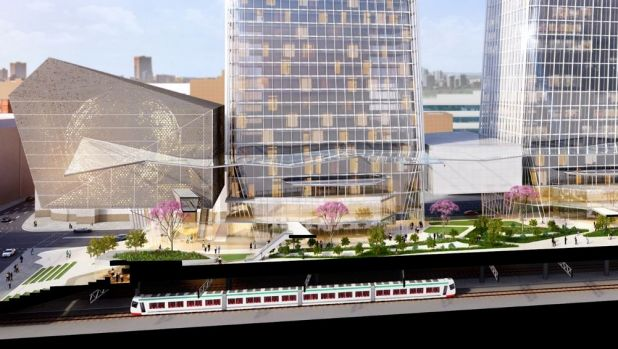 Artists impression of the World Trade Centre precinct proposed for Perth.
