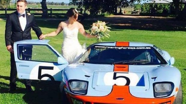Adam Cranston, pictured on his wedding day, allegedly spent millions on luxury cars and racing cars.