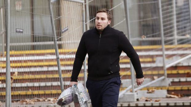 Adam Cranston leaves a police station on May 18 after being granted bail.