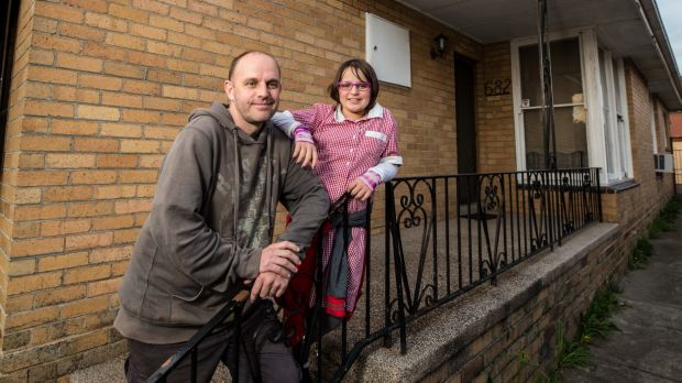 Jeremy Grey, with his daughter Amelia, 11, has always rented with his young family.