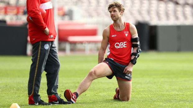 Back: Dane Rampe has recovered from a broken arm.