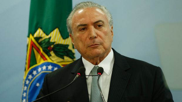 Brazilian President Michel Temer. The goodwill towards a recovery in Brazil has been a major driver of optimism around ...