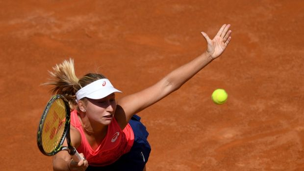 Gavrilova, on her way to defeating Kuznetsova, is firming for a deep run in the French Open.