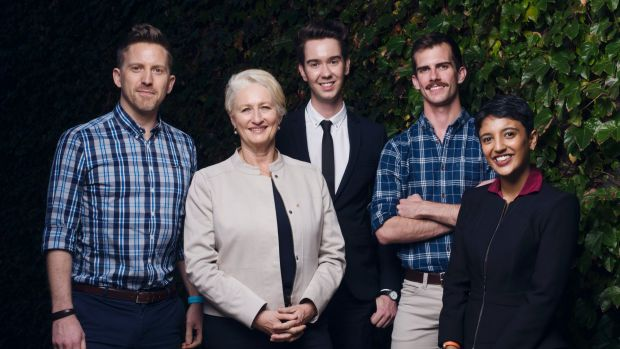 Dr Brad McKay, Professor Kerryn Phelps AM, Liam Mason, Dr Joe Monteith and Ashna Basu gather in Sydney ahead of the ...