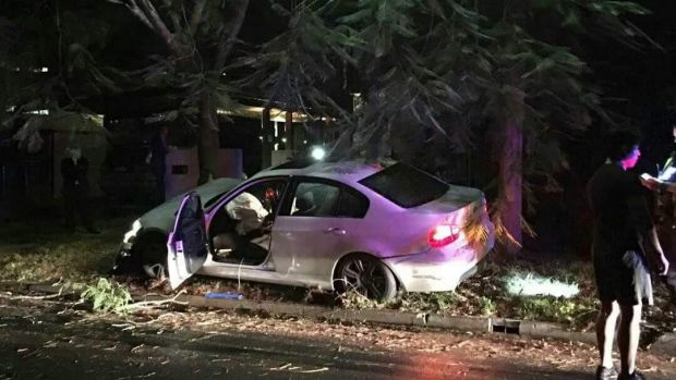 The men crashed into a tree in St Lucia.