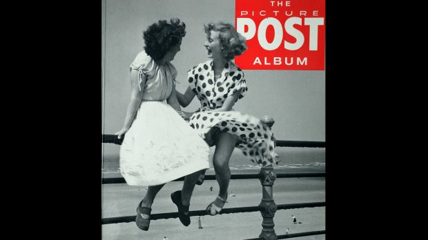 The Picture Post Album featuring a famous photo of Pat Stewart in her Polka dot dress at Blackpool by Bert Hardy.