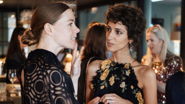 Style.com fashion director and co-founder of Etre Cecile, which is stocked by Myer, Yasmin Sewell (right) chats with ...