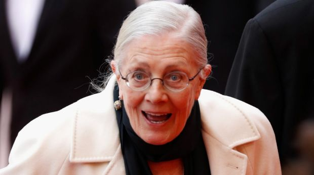 Vanessa Redgrave, director of Sea Song, a documentary about the refugee crisis, at Cannes Film Festival.