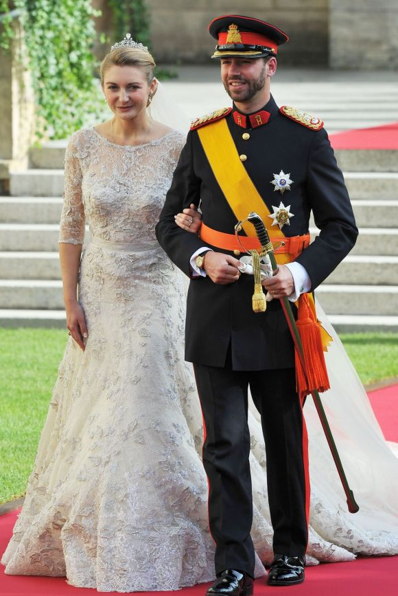Princess Stephanie of Luxembourg and Prince Guillaume of Luxembourg, 2012.