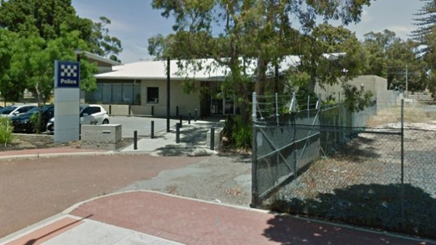 A WA policeman was stabbed while trying to subdue a man outside Gosnells police station.