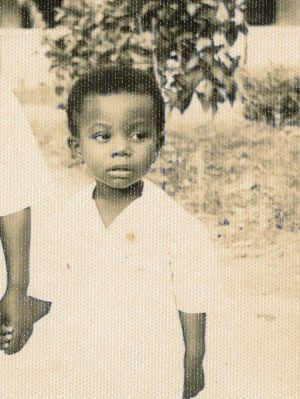 Professor Evans Lagudah as a four year old at the West African Cocoa Research Institute where his father worked as a ...