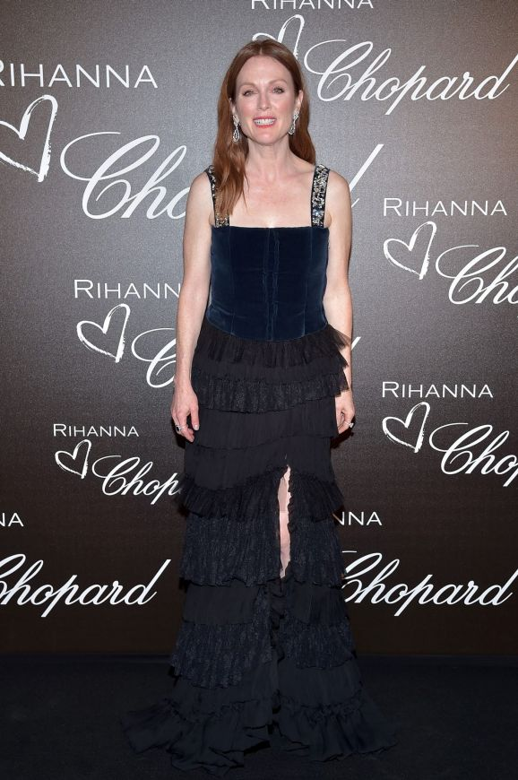 Julianne Moore attends the Chopard dinner in honour of Rihanna and the Rihanna X Chopard Collection.