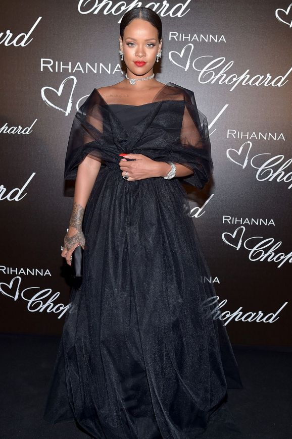 Rihanna attends the Chopard dinner in honour of her and the Rihanna X Chopard Collection.