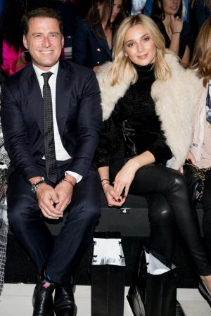 Karl Stefanovic and girlfriend Jasmine Yarbrough make their official debut as a couple at Justin Cassin's show on ...