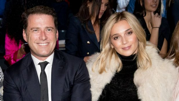 Karl Stefanovic with his new woman, Jasmine Yarbrough, at Fashion Week in Sydney in May.