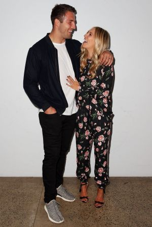 Sam and Phoebe Burgess at the Ellery X Etihad Airways event at The Elston Room, Carriageworks on Wednesday, May 17.