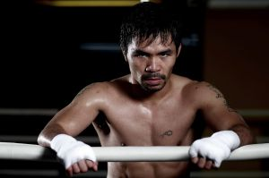 Key fight: Manny Pacquiao's trainer says he would encourage him to give the game away if Jeff Horn causes an upset.