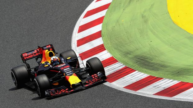 Daniel Ricciardo in action in Spain. The team hopes to have a new engine for the GP in Montreal.