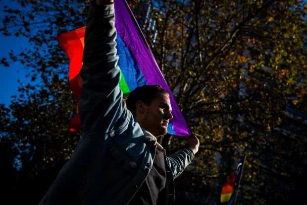 Melbournians turned out to show their support for Equal Love marriage rights during an Equal Love marriage equality ...