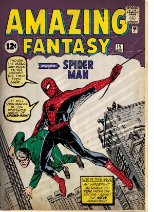 Amazing Fantasy 1962 #15, comic book, published August 10, 1962.