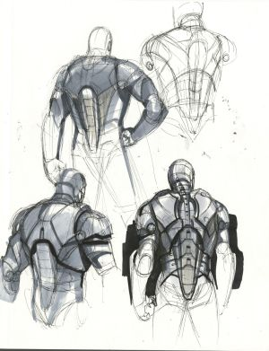 Phil Saunders, Iron Man Mark III no. 2,  concept art for Iron Man 2008.