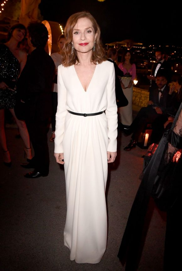 Isabelle Huppert attends the Women in Motion Awards Dinner at the 70th Cannes Film Festival.