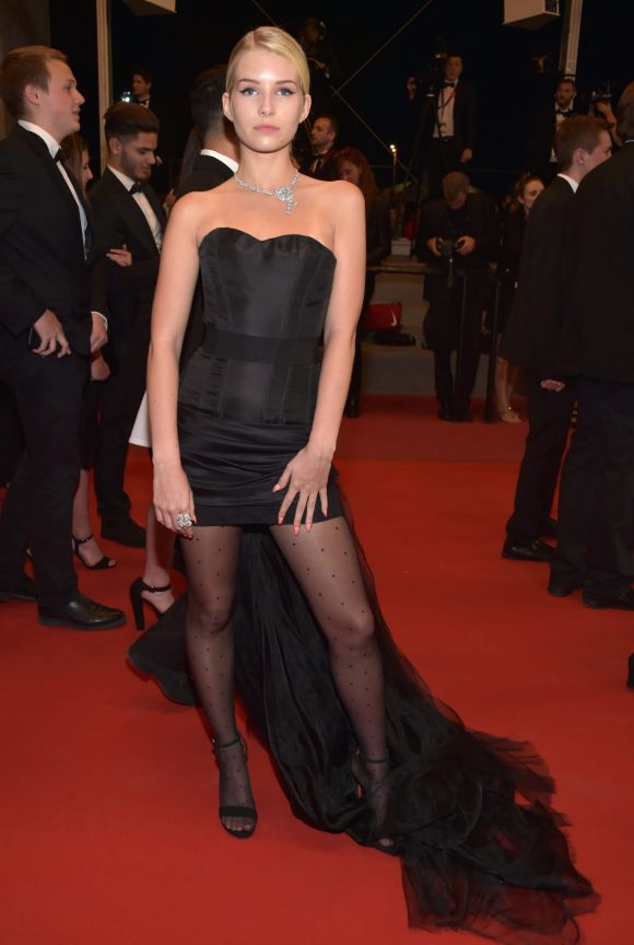 """Lottie Moss attends the """"The Square"""" screening during the 70th annual Cannes Film Festival."""