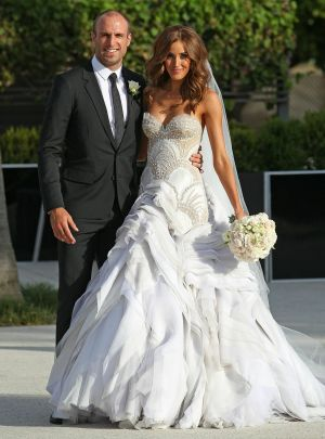 Most requested ... Helen Manuell said dresses along the lines of Rebecca Judd's J'Aton gown are still incredibly popular ...