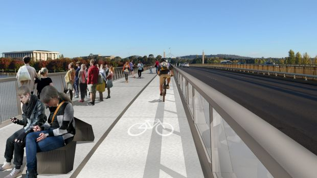An artist impression of a new-look Kings Avenue bridge.