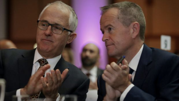 Little to enthuse voters: Malcolm Turnbull and Bill Shorten.