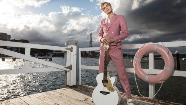 Jeff Duff at Elizabeth Bay. He has his own show at Vivid, and is well known as a David Bowie tribute singer.