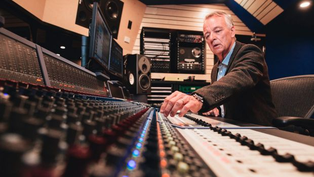 Australian record producer and audio engineer Mark Opitz at the opening of the ANU's new state-of-the-art recording ...
