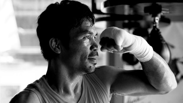 """Manny Pacquiao's trainer says the boxer's timing is """"off""""."""
