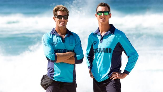 Bondi Rescue lifeguards Dean Gladstone and Anthony 'Harrys' Carroll, at Bronte Beach.