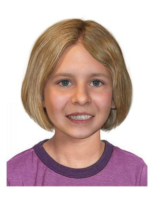 An age-progressed image of how Serena Speath might look now. The now eight-year-old went missing from Brisbane in 2014 ...