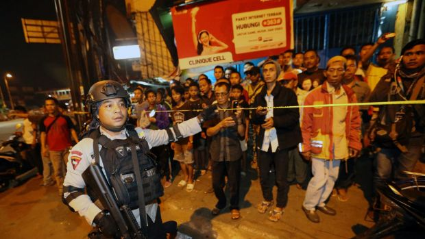 Jakarta blast kills three police officers