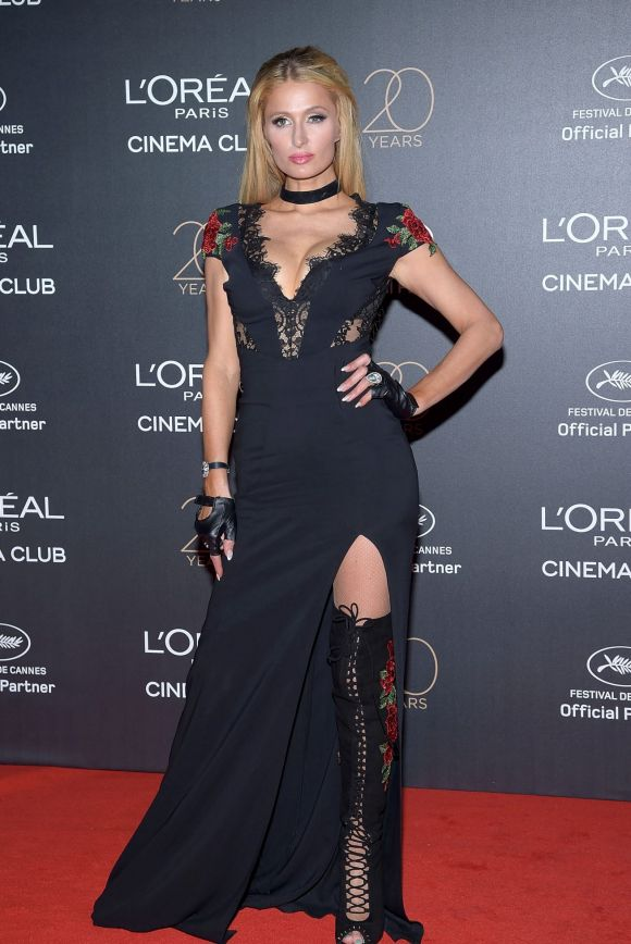 Paris Hilton attends the Gala 20th Birthday Of L'Oreal In Cannes.