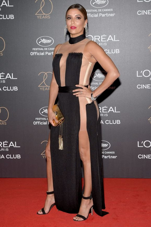 Eva Longoria attends the Gala 20th Birthday Of L'Oreal In Cannes.
