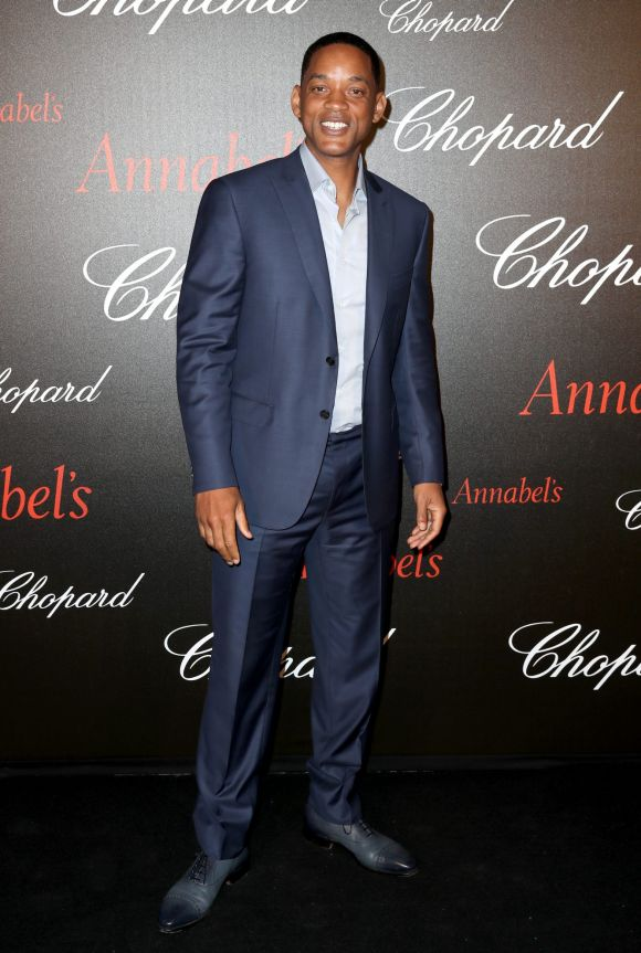 Will Smith attends the Annabel's & Chopard Party during the 70th annual Cannes Film Festival.