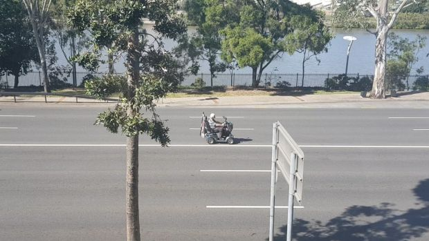 The scooter was travelling along Coronation Drive's centre lane.