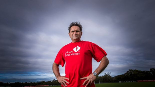 Nicky Winmar survived a heart attack five years ago.